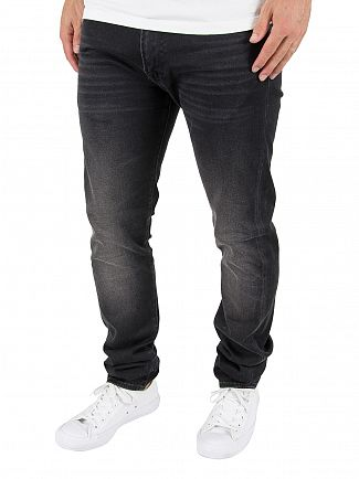 Edwin Goth Black ED-85 Slim Tapered Drop Crotch Jeans