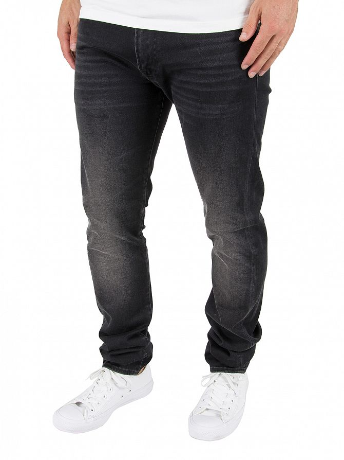 Edwin Goth Black ED-85 Slim Tapered Drop Crotch Jeans