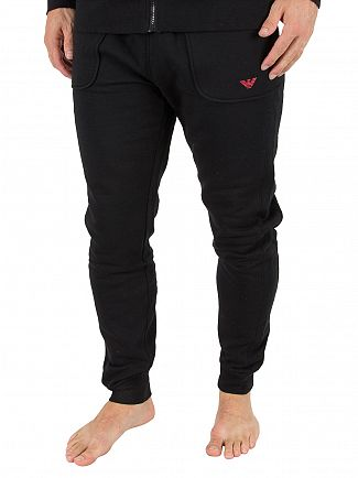 Emporio Armani Black Pantaloni Logo Joggers