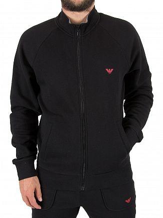 Emporio Armani Black Pantaloni Zip Logo Top