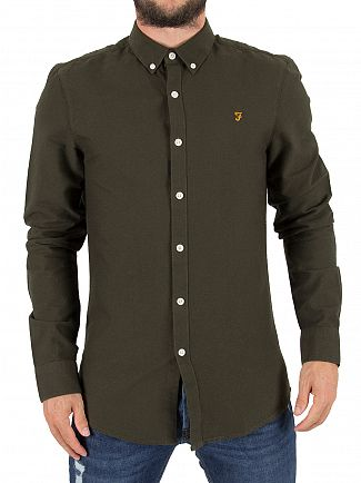 Farah Vintage Evergreen Brewer Slim Longsleeved Shirt