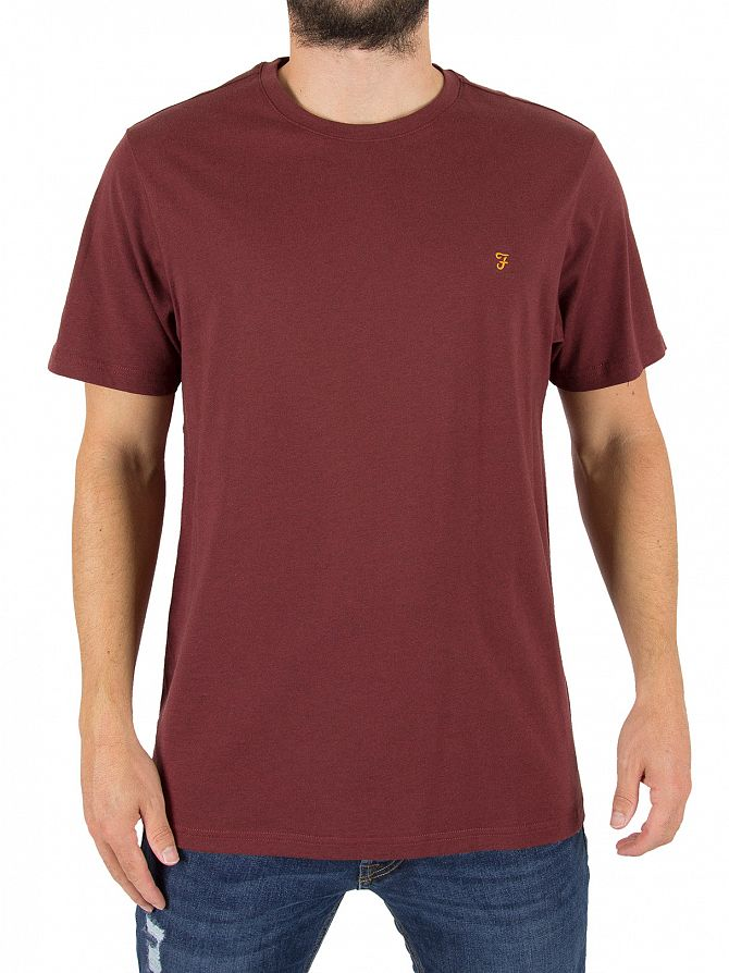 Farah Vintage Red Marl Denny Slim Fit Logo T-Shirt