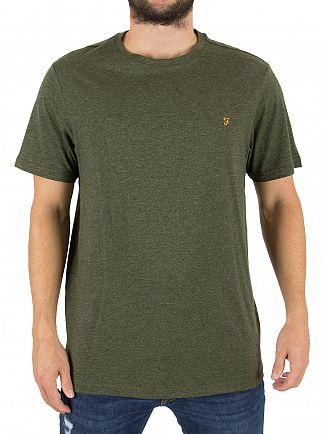 Farah Vintage Evergreen Denny Slim Fit Marled Logo T-Shirt