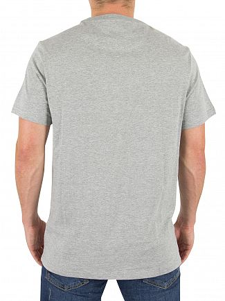 Farah Vintage Rain Heather Denny Slim Solid Logo T-Shirt