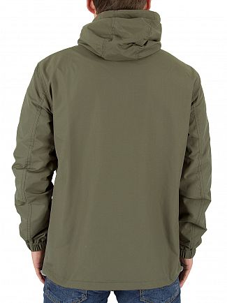 Farah Vintage Military Green Newbern Hooded Logo Jacket
