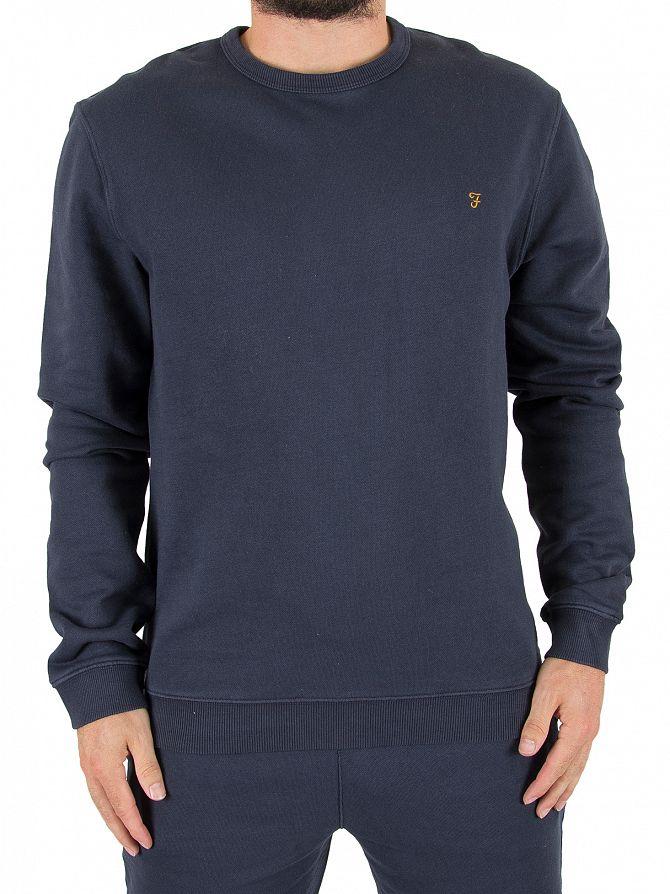 Farah Vintage True Navy Pickwell Logo Sweatshirt