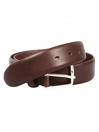 Gant Dark Brown Classic Leather Belt