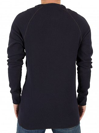 G-Star Dark Naval Blue Jirgi Longsleeved Logo T-Shirt