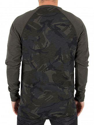 G-Star Asfalt/Black Jirgi Longsleeved Logo T-Shirt