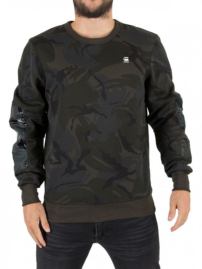 G-Star Asfalt/Black Rackam Logo Sweatshirt