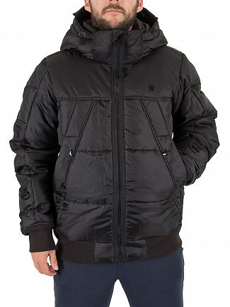 G-Star Black Whistler Hooded Bomber Jacket
