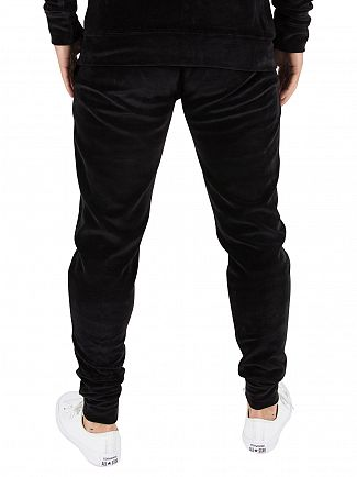 Gym King Black Velour Logo Joggers