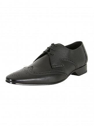 Jeffery West Medusa Black Escoba Leather Shoes