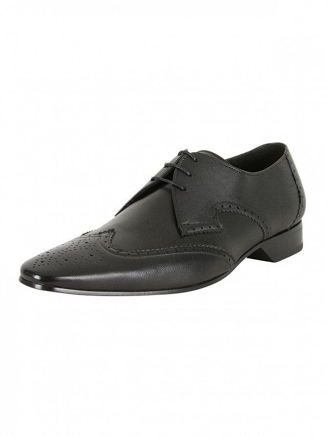 Jeffery West Medusa Black Escoba Leather Shoes