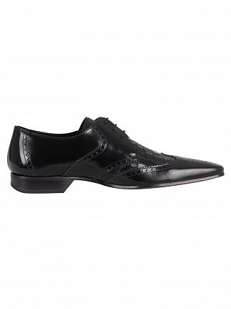 Jeffery West College Black/Antick Black Escoba Polished Shoes