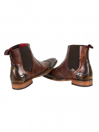 Jeffery West College Camel/College Mid Brown Scarface Polished Shoes