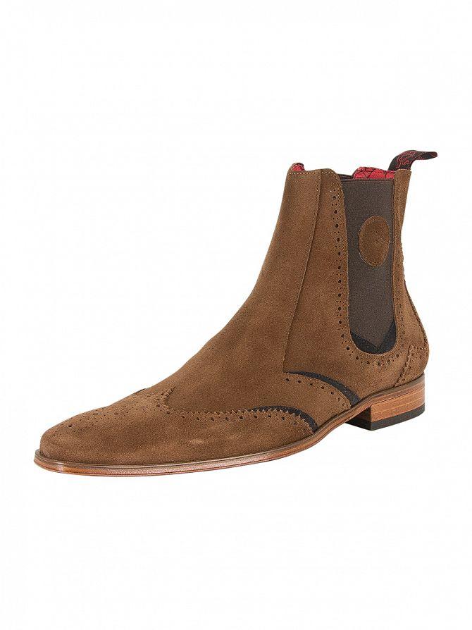 Jeffery West Ante Vac Tan/Ante Vac Dark Blue Scarface Suede Shoes