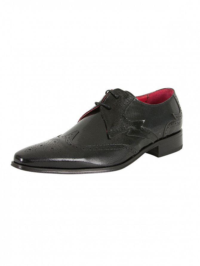 Jeffery West Charcoal Black Yardb Printed Shoes