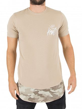 Kings Will Dream Stone/Stone Camo Riccal Logo T-Shirt