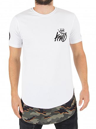 Kings Will Dream White/Khaki Camo Riccal Logo T-Shirt