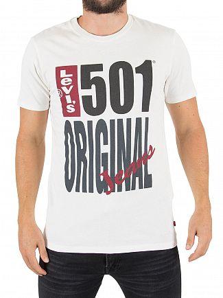 Levi's White 501 Original T-Shirt