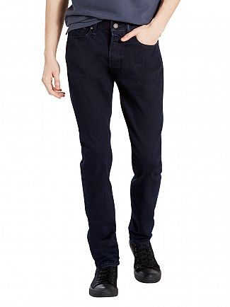 Levi's Dark Wash 501 Skinny Carbonized Jeans