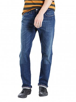 Levi's Blue Denim 511 Stojko Slim Fit Jeans