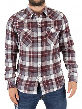 Levi's Wintercress Puce Barstow Western Flannel Check Shirt