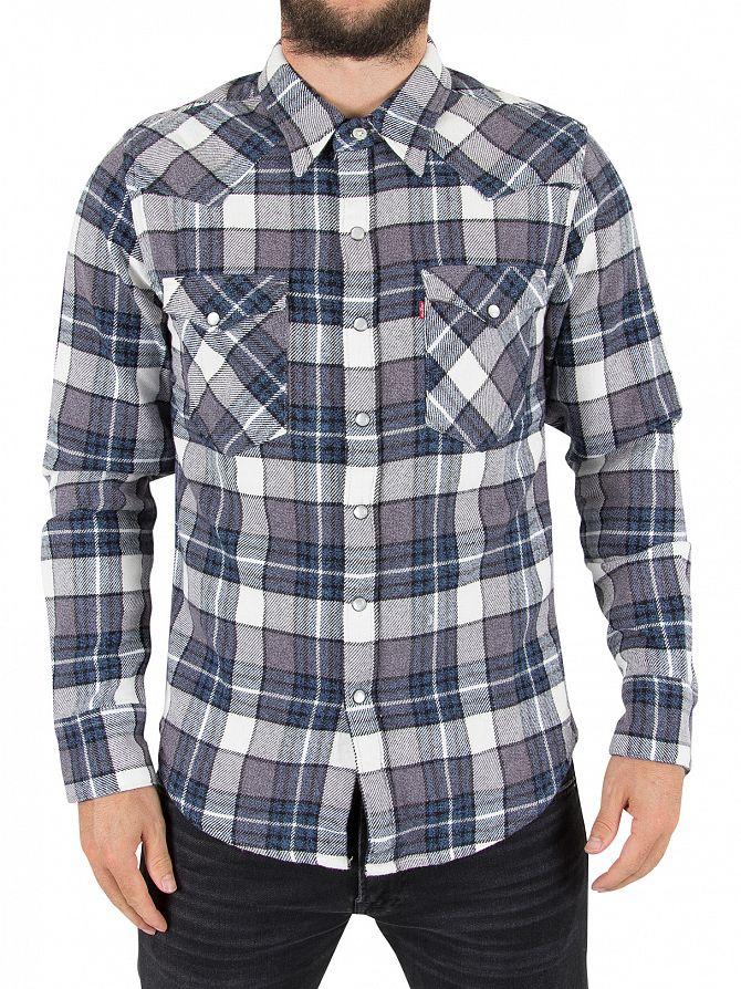 Levi's Wintercress Dark Barstow Western Check Shirt