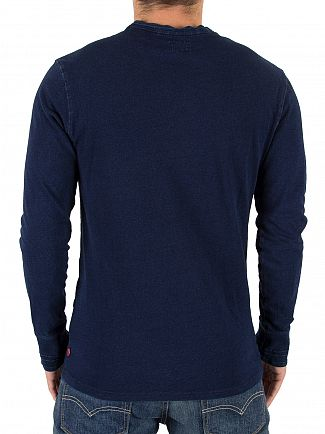 Levi's Dark Indigo Bryant Henley Longsleeved T-Shirt