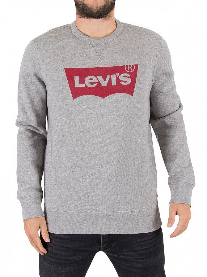 Levi's Midtone Grey Graphic Batwing Sweatshirt