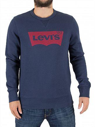 Levi's Dress Blue Graphic Sweatshirt