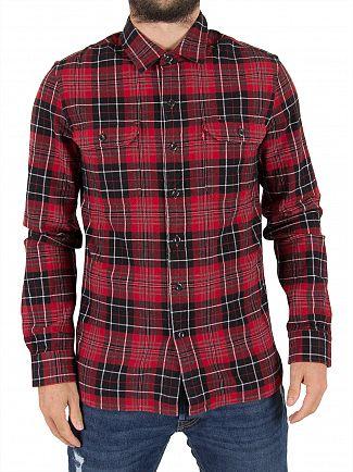 Levi's Tulsi Red Jackson Dahila Plaid Worker Shirt