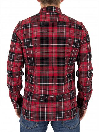 Levi's Tulsi Red Jackson Dahila Plaid Worker Shirt