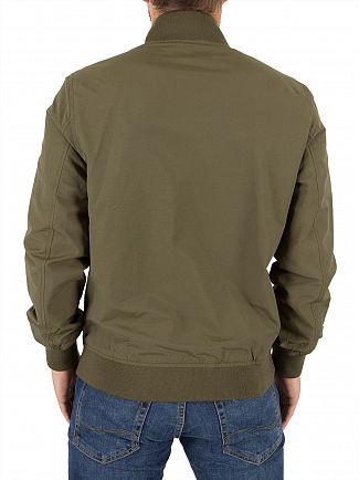 Lyle & Scott Olive Bomber Logo Jacket
