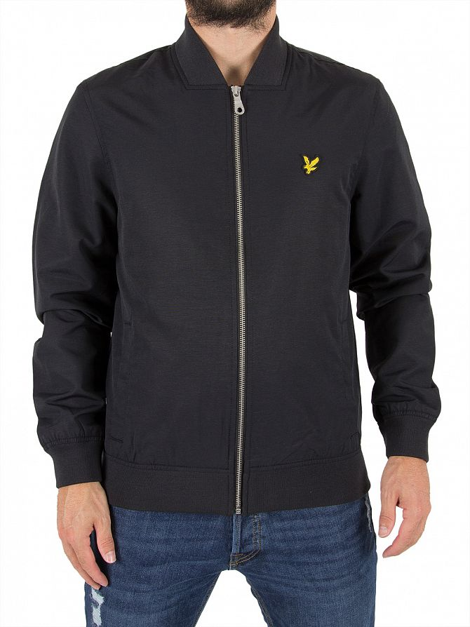 Lyle & Scott True Black Bomber Logo Jacket