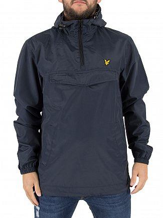 Lyle & Scott Navy Front Pocket Logo Anorak Jacket