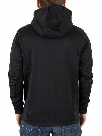 Lyle & Scott True Black Hooded Tricot Logo Jacket