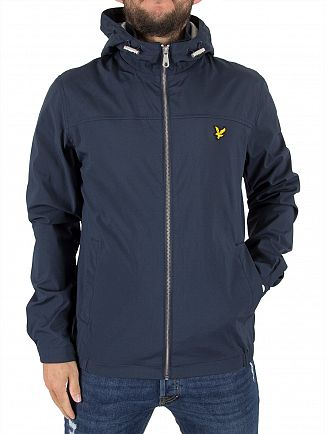 Lyle & Scott Navy Jersey Soft Shell Logo Jacket