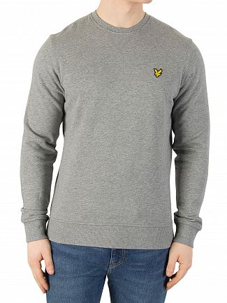 Lyle & Scott Mid Grey Marl Logo Sweatshirt