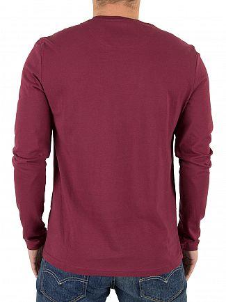 Lyle & Scott Claret Jug Longsleeved Logo T-Shirt