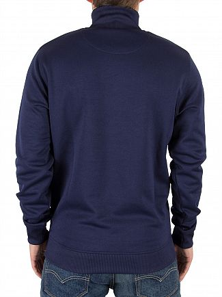 Lyle & Scott Navy Tricot 1/4 Zip Logo Jacket