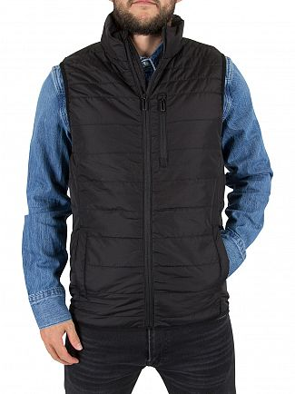 Only & Sons Black Ellif Puffer Gilet Jacket