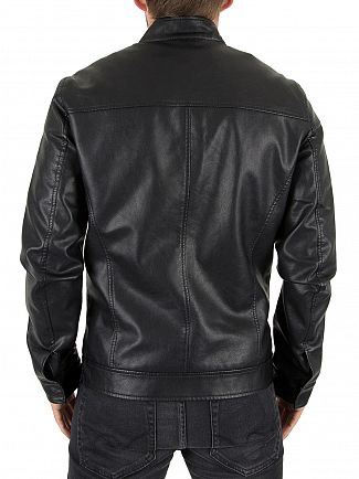 Only & Sons Black Samson Cafe Racer Jacket