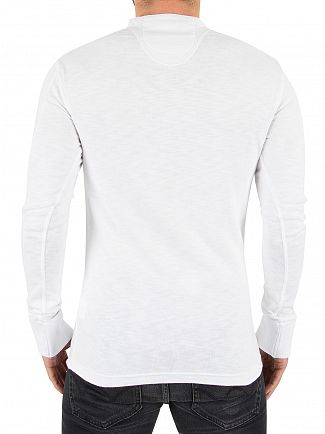 Superdry Optic White Heritage Longsleeved Grandad T-Shirt