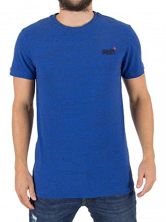 Superdry Blast Blue Grit Orange Label Vintage EMB Logo T-Shirt