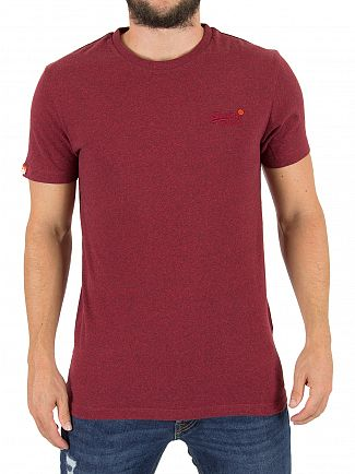Superdry Bright Berry Grit Orange Label Vintage Logo T-Shirt