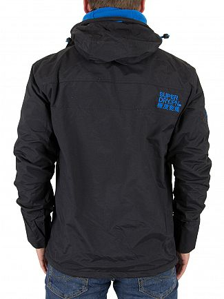 Superdry Black/Super Denby Pop Zip Hood Arctic Windcheater
