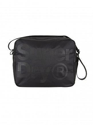 Superdry Black/Black Premium Lineman Messenger Bag