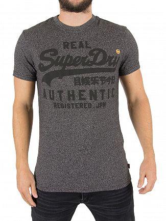 Superdry Char Black Grit Vintage Authentic Tonal T-Shirt